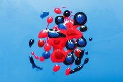 Творческое искусство, современная картина Сияющий маникюр Стоковое Изображение RF