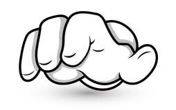 Рука шаржа - перста указывая - иллюстрация вектора иллюстрация штока