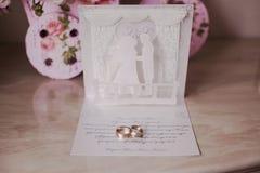 Творческое обручальное кольцо Стоковое Фото