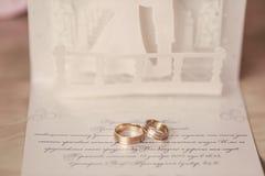 Творческое обручальное кольцо Стоковые Изображения RF