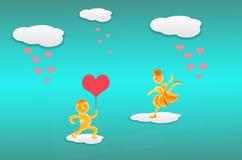 Творческое фото концепции валентинок Красный символ сердца влюбленности или d Стоковые Изображения