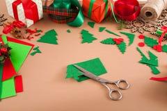 Творческое diy хобби Handmade орнамент рождественской елки войлока Стоковые Фотографии RF