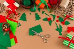 Творческое diy хобби Handmade орнамент рождественской елки войлока Стоковые Изображения
