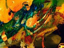 Творческой абстрактной предпосылка покрашенная рукой Стоковые Фотографии RF