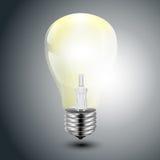 Творческую иллюстрацию электрической лампочки, можно использовать для infographics, иллюстрации вектора концепции Стоковое Фото
