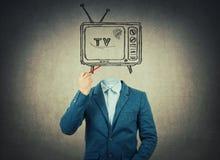 ТВ возглавило стоковое фото rf