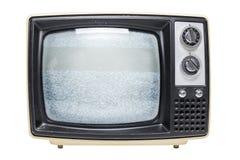 ТВ года сбора винограда с статическим экраном Стоковые Изображения