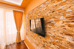 ТВ на стене Смертная казнь через повешение ТВ на стене Стоковое Изображение RF