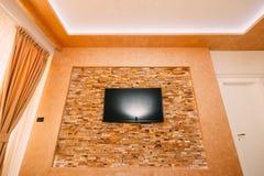 ТВ на стене Смертная казнь через повешение ТВ на стене Стоковое Фото
