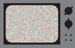 ТВ небольшого затруднения или шума Стоковые Изображения RF