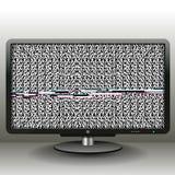 ТВ с небольшим затруднением для предпосылки и знамени Стоковое Изображение RF