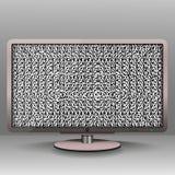 ТВ с небольшим затруднением для предпосылки и знамени Стоковое Фото