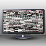 ТВ с небольшим затруднением для предпосылки и знамени Стоковое Изображение