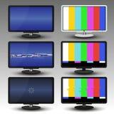 ТВ с небольшим затруднением и никаким сигналом, для вектора предпосылки и знамени Стоковая Фотография RF