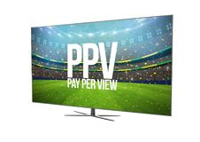 ТВ телевидения умное изолированное с pay per view Иллюстрация штока