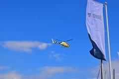 ТВ Helecopter деревни гонки океана Volvo Стоковые Изображения RF