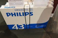 ТВ Philips Ambilight стоковое изображение
