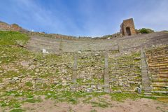 Театр акрополя, древнегреческия Стоковое фото RF