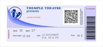 Театр билета иллюстрация штока