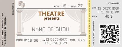 Театр билета иллюстрация вектора