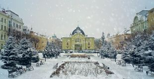 Театр в зиме Стоковая Фотография