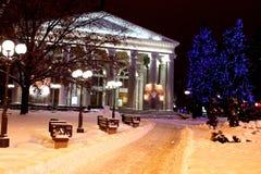 театр в зиме стоковые изображения rf