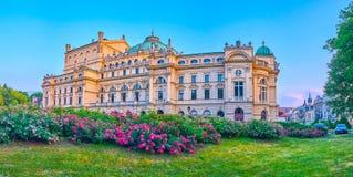 Театр в Кракове, Польша Slowacki стоковое фото rf