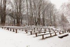 Театр в древесинах зимы Стоковое Изображение RF