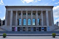 Театр драмы государства Азербайджана академичный национальный стоковое фото