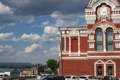 Театр драмы самары академичный m Gorky на квадрате Chapayev Театр был построен в 1888 стоковые фото
