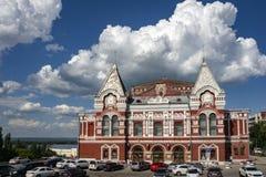 Театр драмы самары академичный m Gorky на квадрате Chapayev Театр был построен в 1888 стоковая фотография