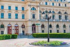 Театр здания они Театр драмы Juliusz Slovakian в ce Стоковая Фотография RF