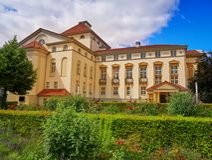 Театр и сад Нордхаусена в Harz Германии Стоковое фото RF