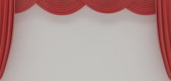 театр красного цвета занавесов Стоковая Фотография