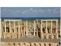 театр Ливии римский Стоковое Изображение