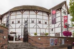Театр Лондон Англия глобуса Шекспир Стоковое Изображение RF