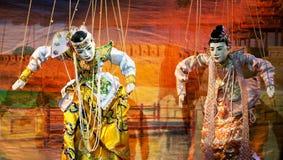 Театр марионетки Мандалая стоковое изображение rf