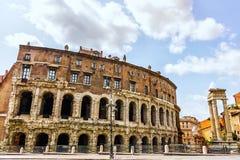 Театр Маркела, Рима стоковые изображения