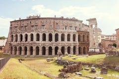 Театр Маркел Рима стоковые фото