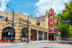 Театр 4-ое августа 2014 Fox в Атланте Стоковое Изображение