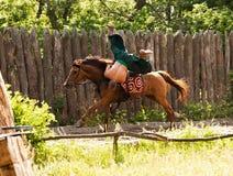 Театр лошади казаков Стоковые Изображения
