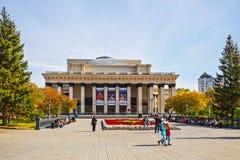 Театр положения Новосибирска академичный оперы и балета Novosibi стоковое изображение rf