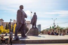 Театр положения Новосибирска академичный оперы и балета Novosibi стоковое фото rf