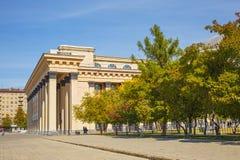 Театр положения Новосибирска академичный оперы и балета Novosibi стоковое изображение