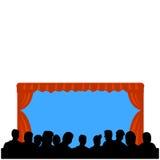 театр посещаемости просто Стоковое фото RF