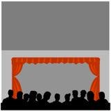 театр посещаемости Стоковое фото RF