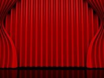 театр представления кино занавеса Стоковая Фотография RF