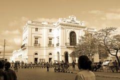 Театр призрения в Parque Vidal, центре города s стоковые фото