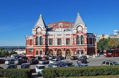Театр драмы самары m Gorky на квадрате Chapayev samara стоковое изображение rf