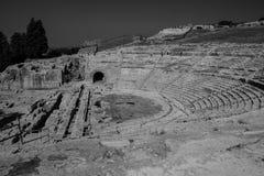 Театр Сиракуза стоковые фото